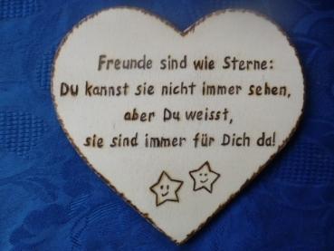 Herz Mit Spruch Freunde Sind Wie Sterne Brandkunst